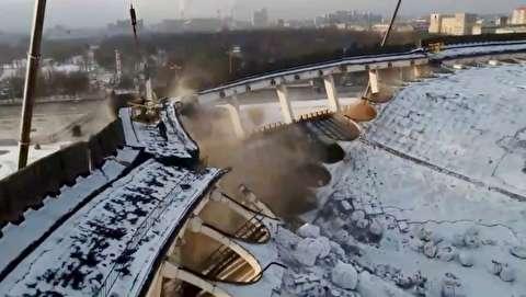 انهدام ناخواسته یک استادیوم در روسیه