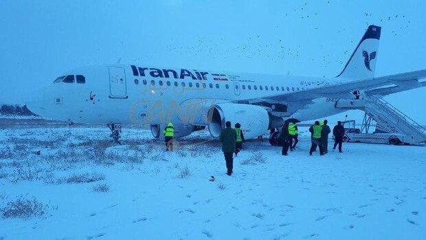 خروج ایرباس ۳۱۹ از باند فرودگاه کرمانشاه/ نقص در چرخ جلو عامل سانحه بود