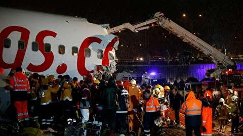 لحظات تصادف هواپیمای پگاسوس ترکیه
