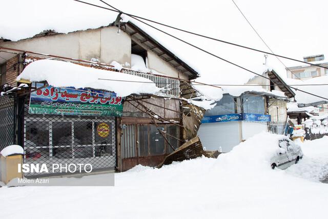 وضعیت گیلان سه روز پس از بارش سنگین برف