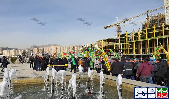 ذوق زدگی شهردار تهران برای افتتاح یک پیاده راه