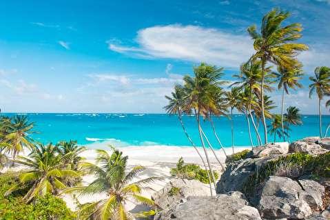 ساحل باربادوس از فراز آسمان