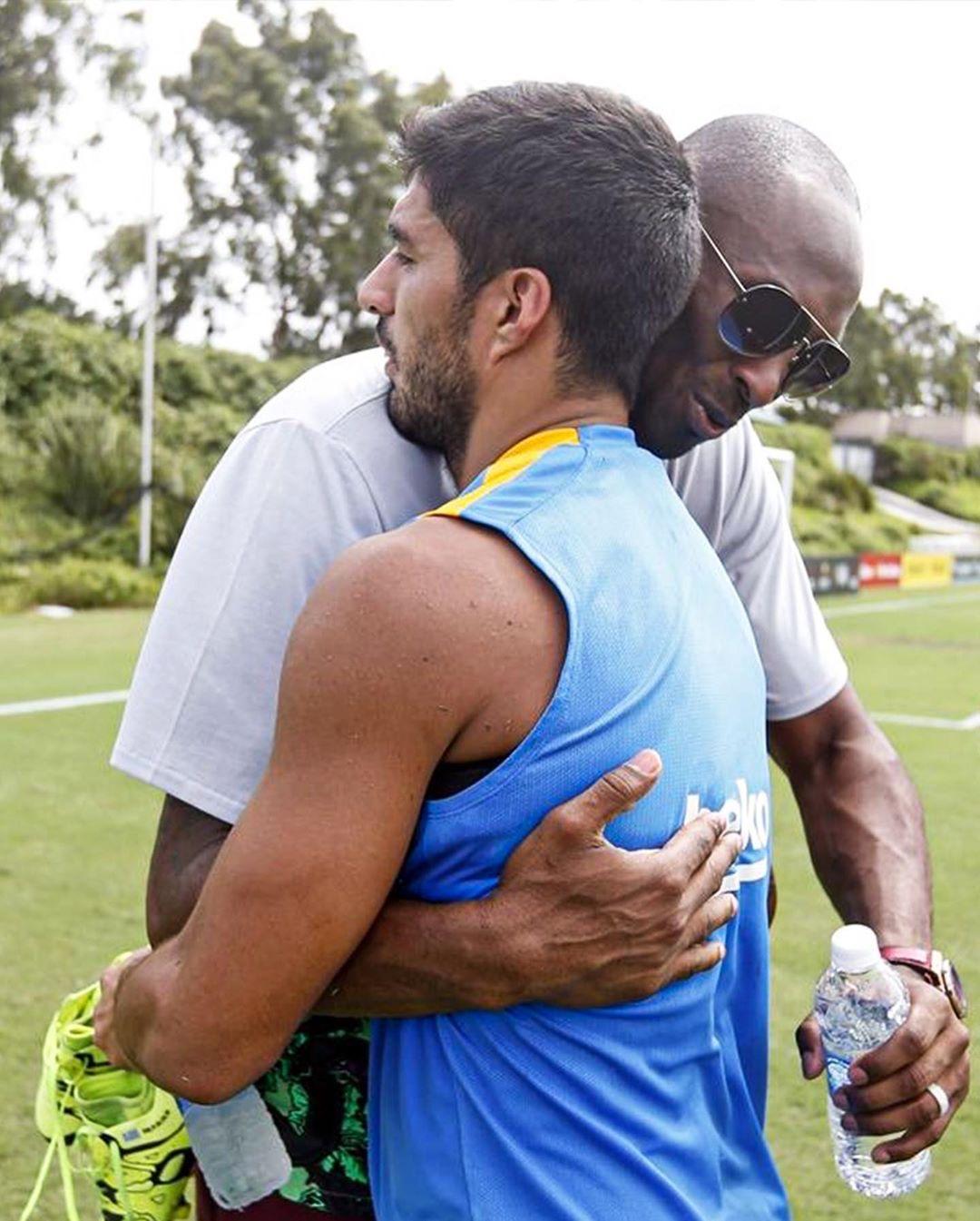 تصاویری از کوبی برایانت با فوتبالیهای معروف دنیا