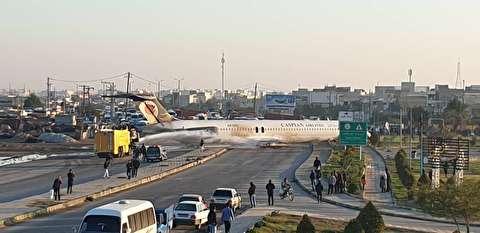 هواپیمای کاسپین از فرار مسافران تا اطفای حریق