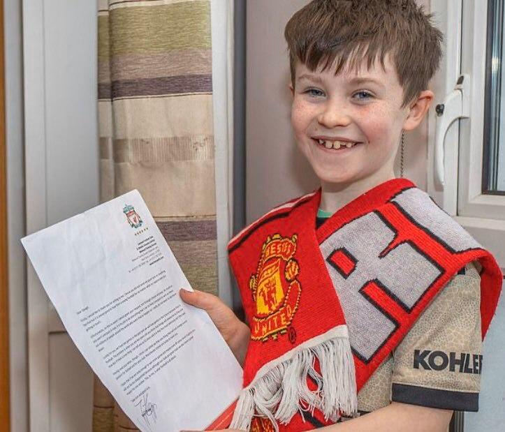 ماجرای نامه کودک ۱۰ساله منچستری و جواب کلوپ