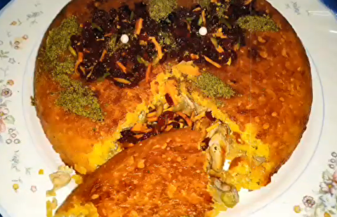 طرز تهیه ته چین مرغ و سبزیجات