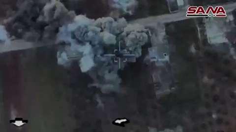 حمله هوایی روسیه به ارتش ترکیه