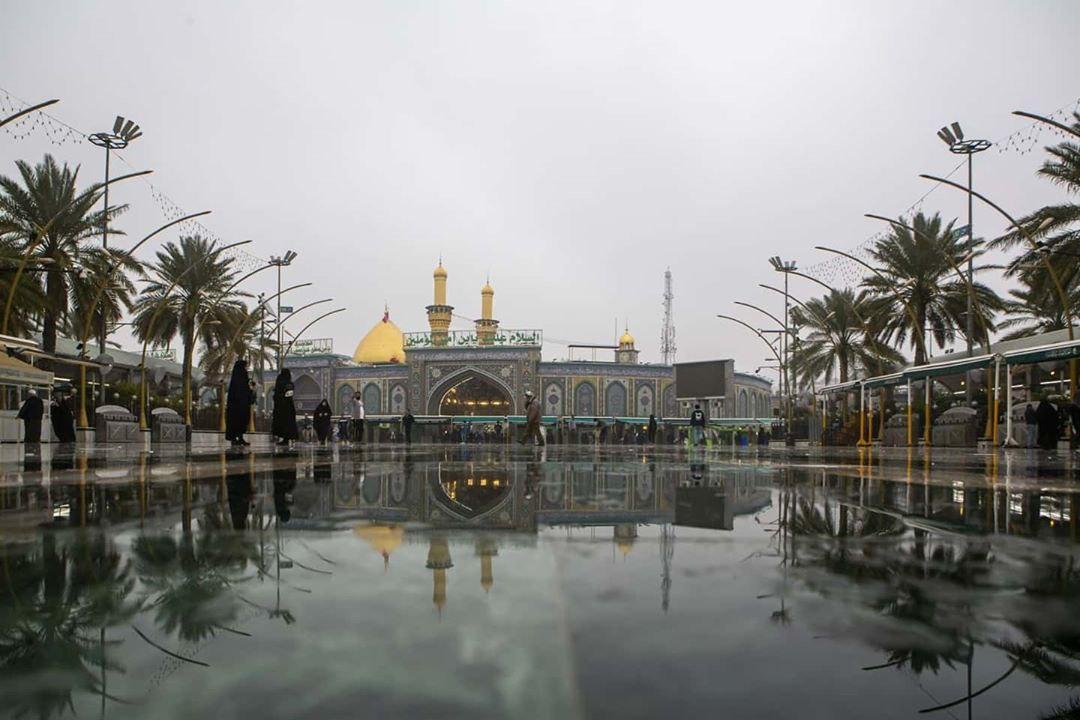 تصاویری زیبا از بارش باران در بین الحرمین