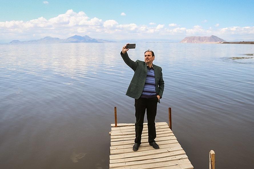 حالِ خوشِ دریاچه ارومیه در مقایسه با ۳ سال پیش