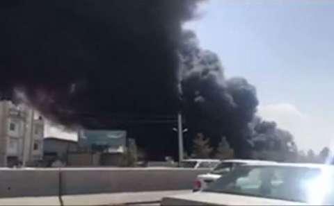 آتشسوزی مهیب در جاده تهران - قم