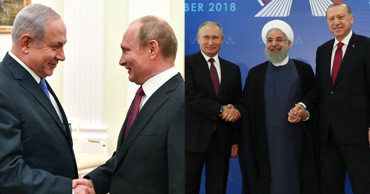شعبده پوتین در برقراری روابط نزدیک با دشمنان دیرین: ایران و اسرائیل