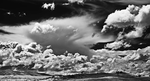 شکوه طبیعت در قاب سیاه و سفید