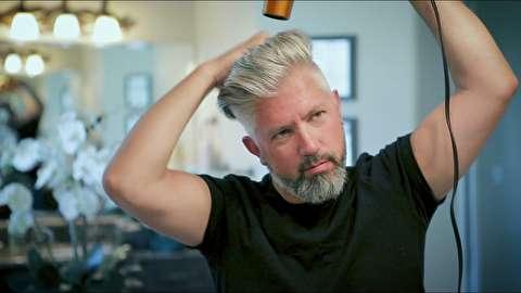 روش حجم دادن به موها برای مردان میانسال