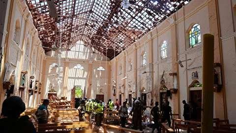 لحظه وقوع انفجار در سریلانکا