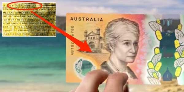 غلط املایی در اسکناس های ۵۰ دلاری استرالیا!