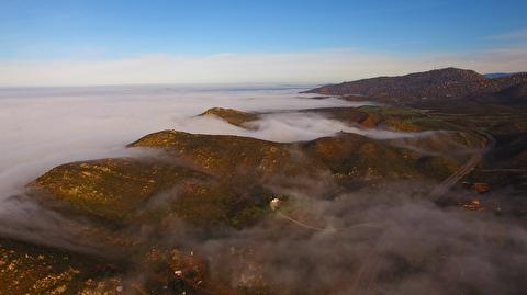 صبح مه گرفته سن دیگو در قاب 4K