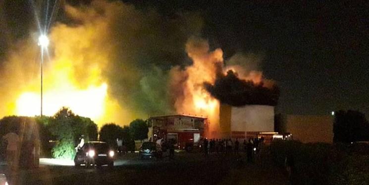 سینما ۵ بعدی شهربازی اهواز آتش گرفت