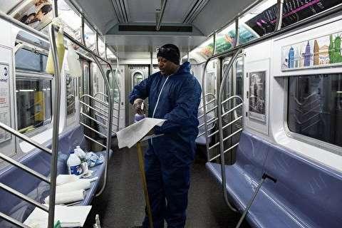 واگن قطار پر از زباله در مترو نیویورک