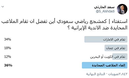 عربستانیهاخواستارلغو«زمین بیطرف»مقابلایرانیها