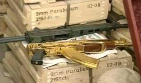 کشف اسلحههای طلای پسر صدام حسین