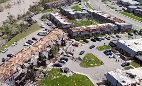 تخریب وسیع گردباد در اوهایو آمریکا
