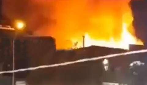 آتش سوزی سینما بهمن شیراز