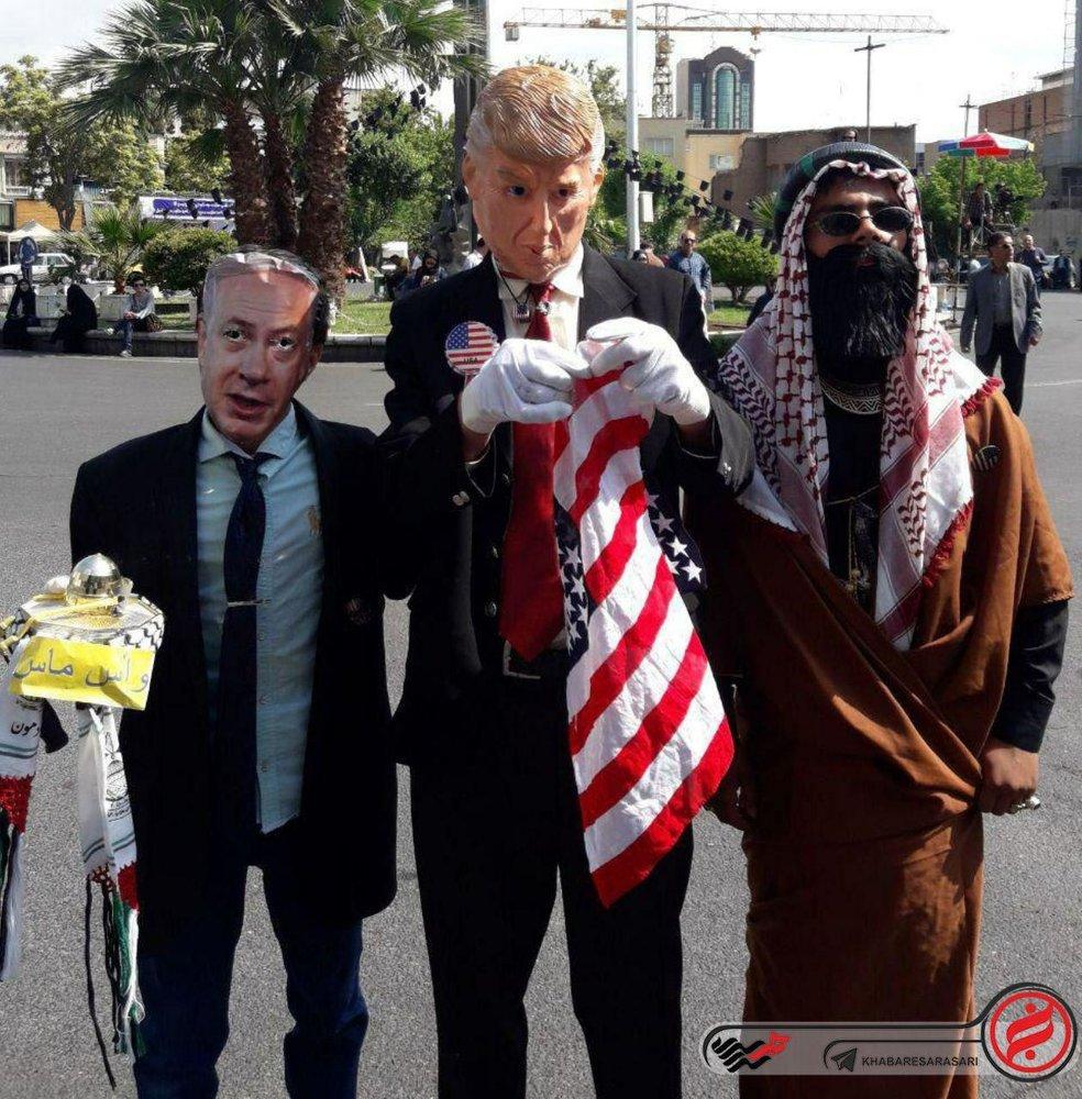 قاتلین کودکان فلسطینی در راهپیمایی روز قدس