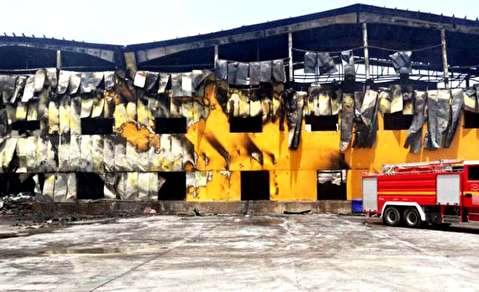 آتش سوزی کارخانه کاله در عراق