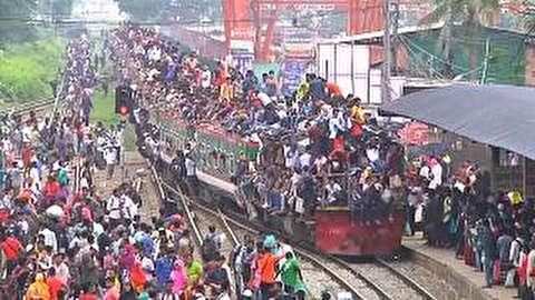 وضعیت شگفتی آور قطارهای بنگلادش