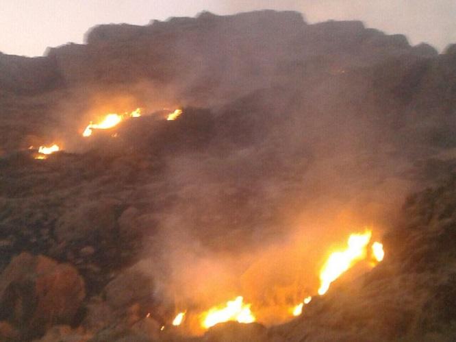 آتش دوباره در کوه منگشت ایذه زبانه کشید