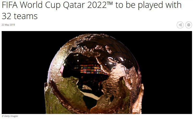 جام جهانی قطر با همان ۳۲ تیم برگزار خواهد شد
