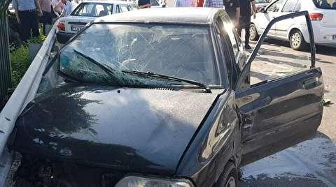 فرار معکوس سارق پراید از دست پلیس در اتوبان