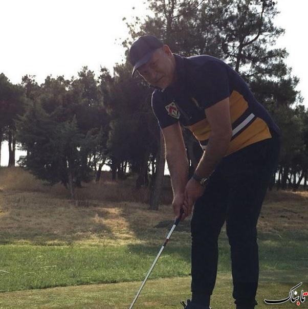 تصاویر امروز از گلف بازی کردن علی دایی
