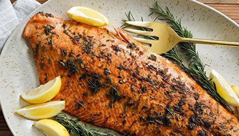 طرز تهیه ماهی قزلآلای خشخاشی