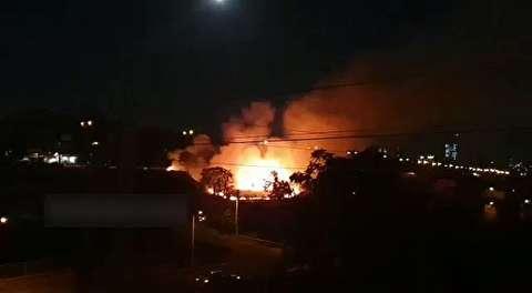 آتشسوزی فضای سبز زیر پل مدیریت تهران