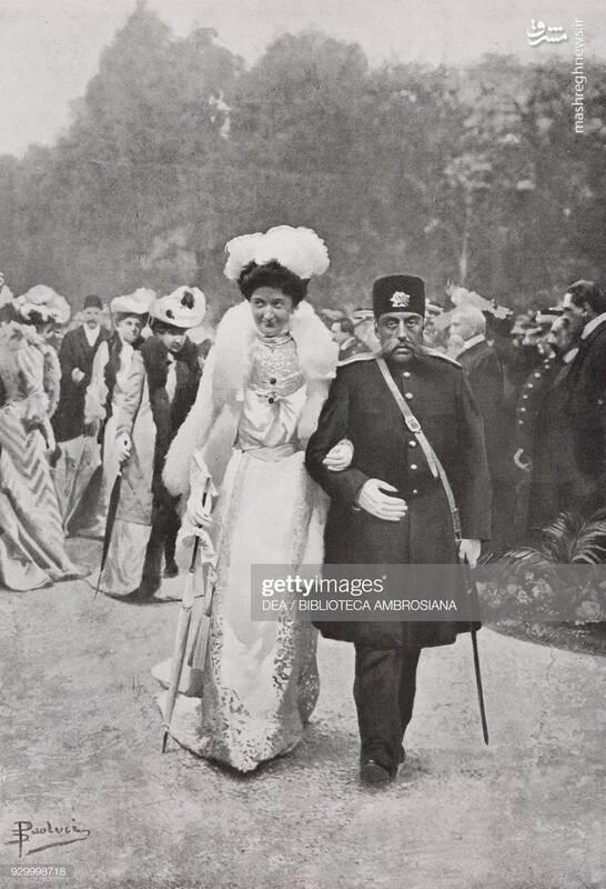 مظفرالدین شاه و ملکه ایتالیا