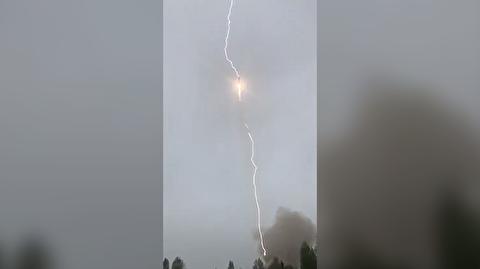 برخورد صاعقه به موشک سایوز حین پرتاب