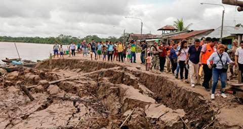 خسارات زلزله هشت ریشتری در پرو