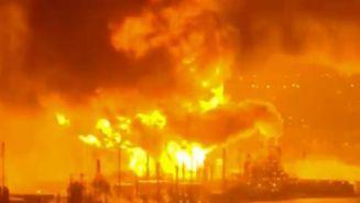 پالایشگاه نفت فیلادلفیا همچنان میسوزد