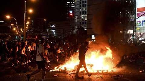 درگیری پلیس اسرائیل با معترضان اتیوپیاییتبار
