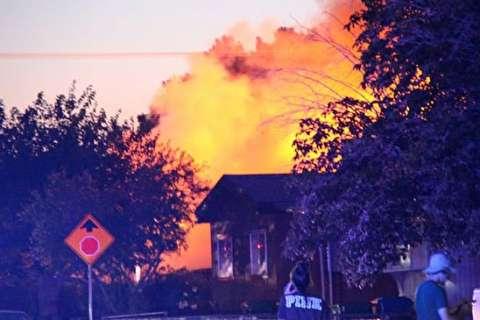 آتشسوزی پس از زلزله هفت ریشتری کالیفرنیا