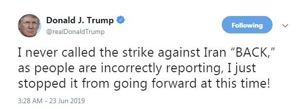 ترامپ: هرگز حمله به ایران را «لغو» نکردم