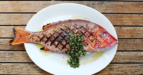 دستور پخت ماهی سرخو گریل شده