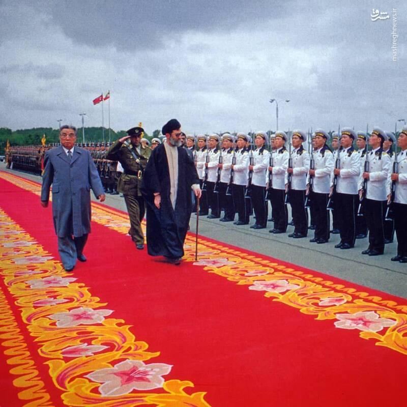 تصویری نادیده از رهبرانقلاب و رهبرسابق کرهشمالی