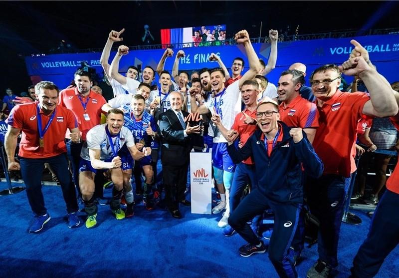 روسیه در خاک آمریکا قهرمان لیگ ملتهای والیبال شد