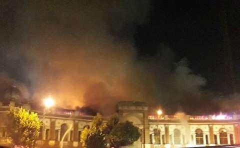 آتش سوزی میدان حسن آباد از ابتدا تا انتها