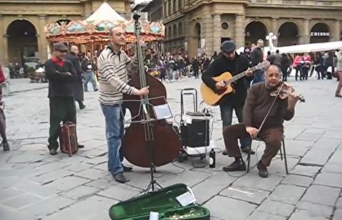 تریو گیتار، کنترباس و ویولن دیگر در فلورانس