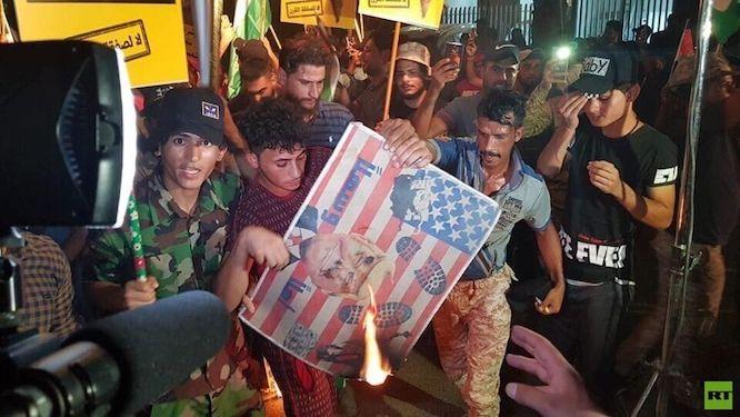 بازداشت دهها تن درپی حمله به سفارتبحرین درعراق