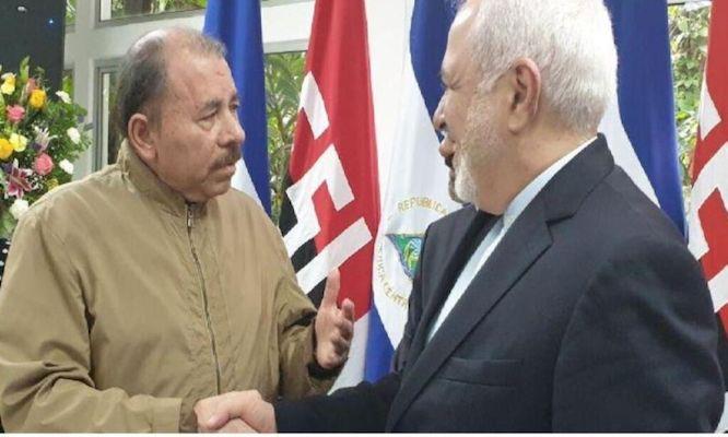 دیدار ظریف با رییس جمهور نیکاراگوئه