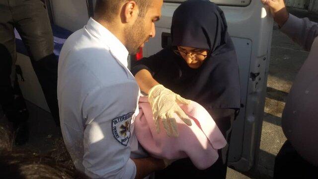 تولد یک نوزاد در مترو دروازه دولت